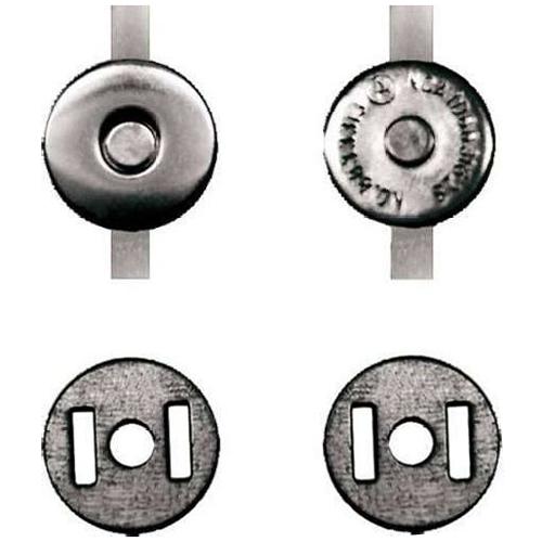 Кнопка магнитная 14 мм никель