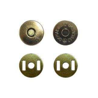 Кнопка магнитная 14 мм золото