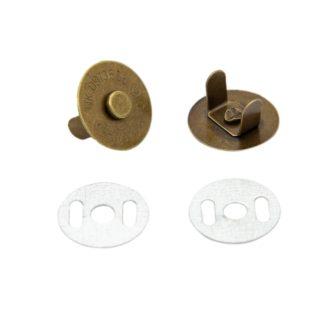 Кнопка магнитная на усиках 18 мм бронза