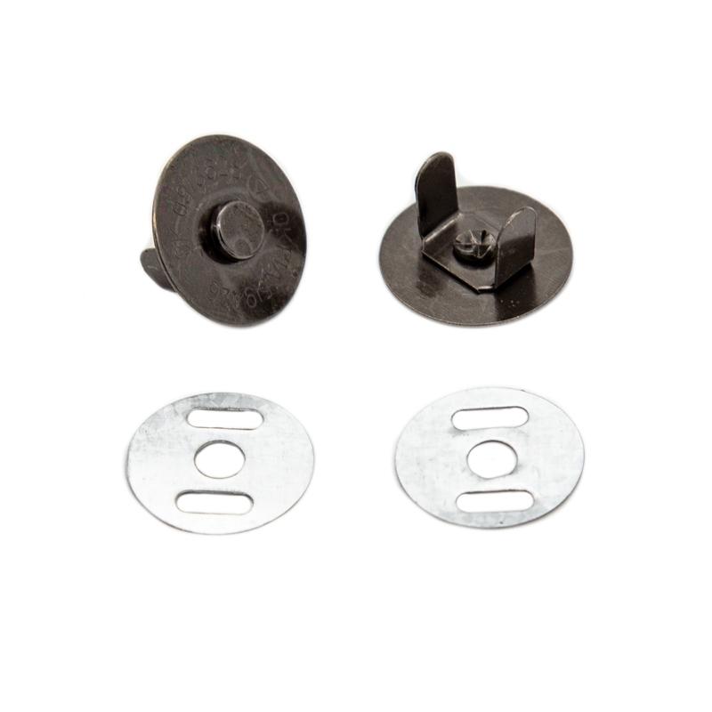 Кнопка магнитная на усиках 18 мм черный никель