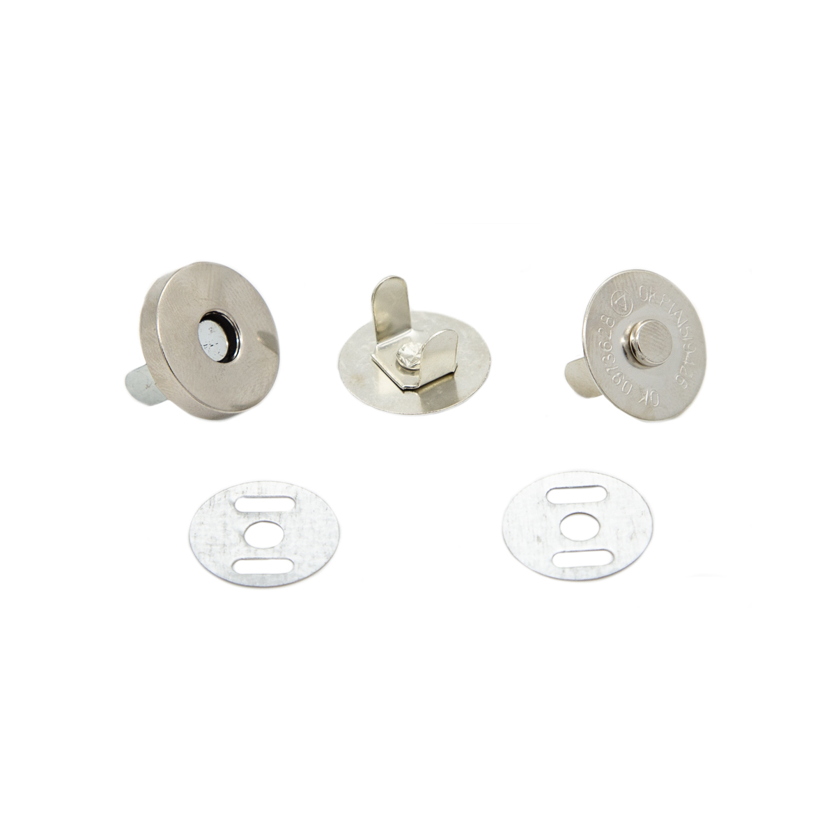 Кнопка магнитная на усиках 18 мм никель