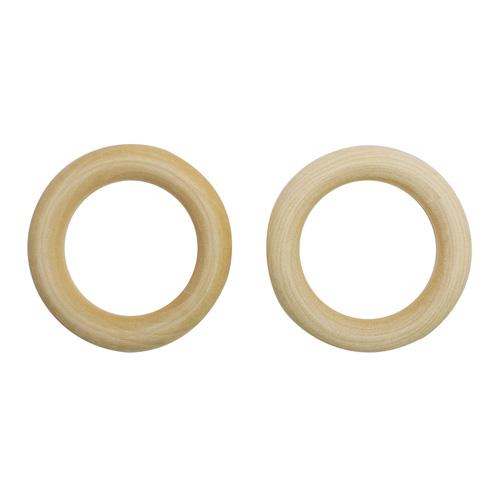 Бусина деревянная неокрашенные кольцо 60 мм