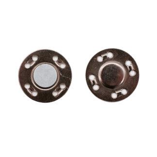 Кнопка магнитная 20 мм черный никель