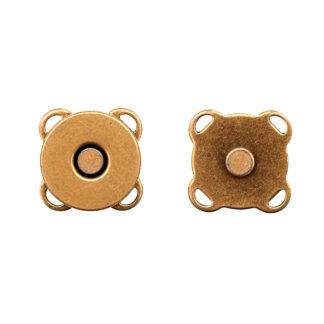 Кнопка магнитная пришивная 14 мм латунь