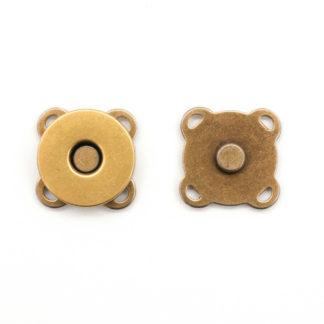 Кнопка магнитная пришивная 18 мм латунь