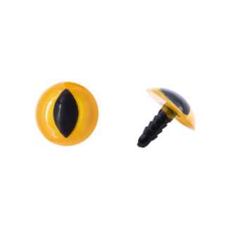Глазки пластиковые без фиксатора 20 мм желтый