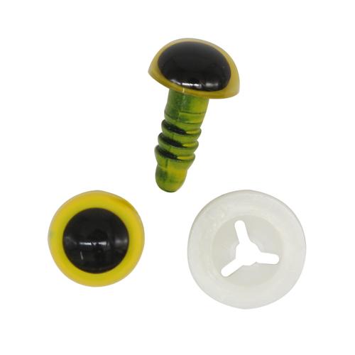 Глазки пластиковые с фиксатором 10 мм янтарный