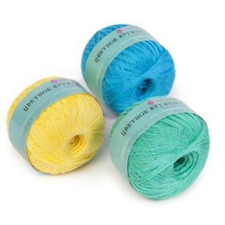 Цветное кружево 100% мерсеризованный хлопок 475м/50г