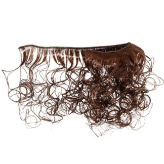 Волосы-тресс для кукол кудри ширина 50 см. Длина 20 см. Коричневый