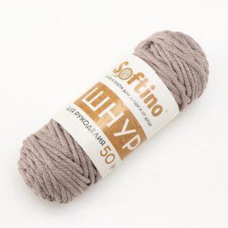 Шнур для рукоделия Хлопковый 4 мм серо-коричневый