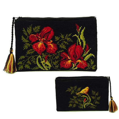 Набор для вышивания «Косметичка Ирисы»