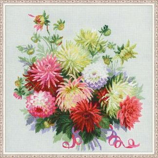 Набор для вышивания Riolis Георгины 45х45 см