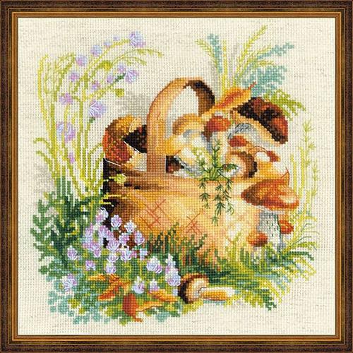 Набор для вышивания Riolis Грибное лукошко 30х30 см