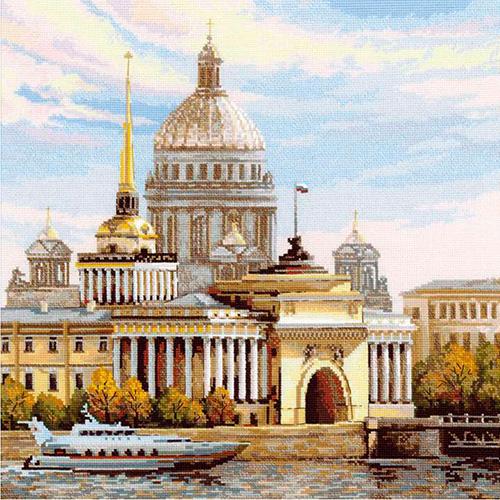 Набор для вышивания Riolis Санкт-Петербург. Адмиралтейская набережная 40х40 см
