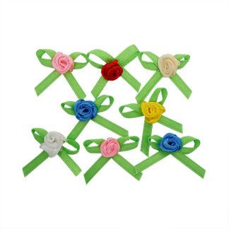 Цветочек декоративный из атласной ленты 2 см