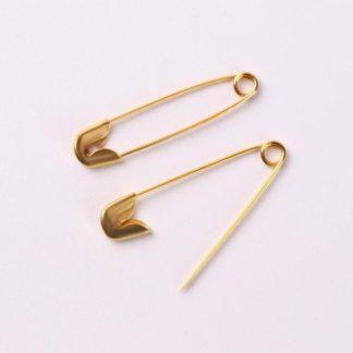 Булавка английская металл №0 20х3 мм золотой