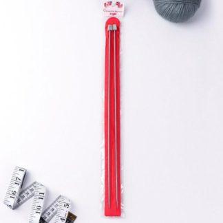 Спицы прямые металл 35 см 3.0 мм (2шт)