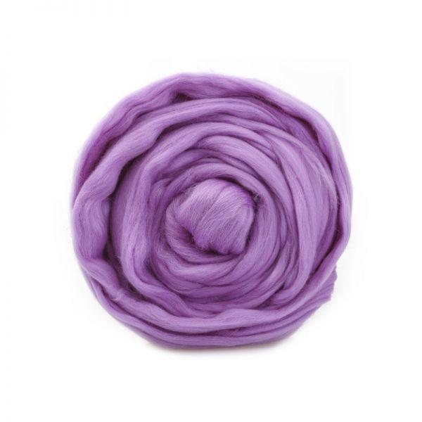 Тонкая мериносовая шерсть 0029 розовая сирень