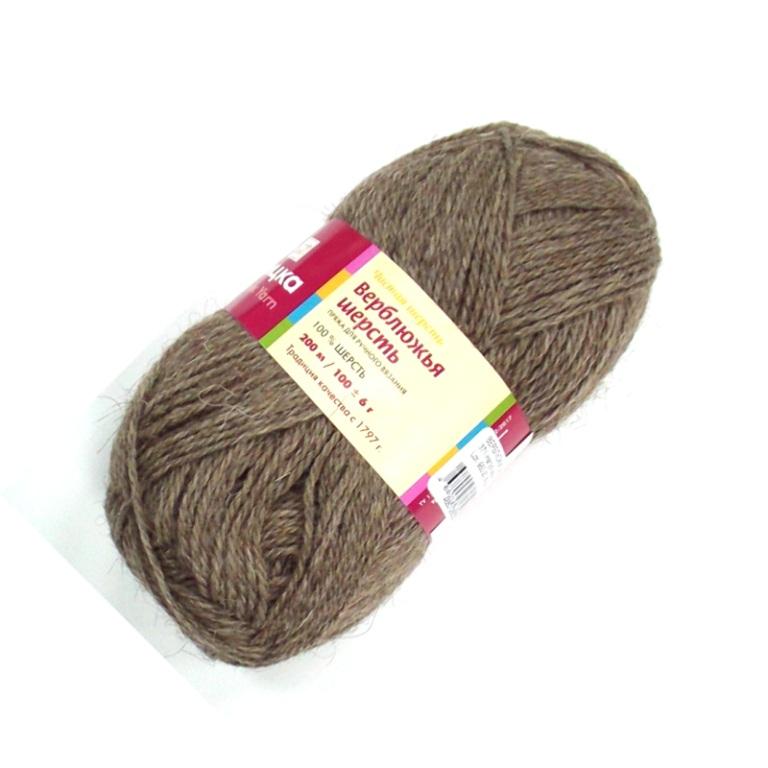 Верблюжья шерсть 0371 натуральный серый